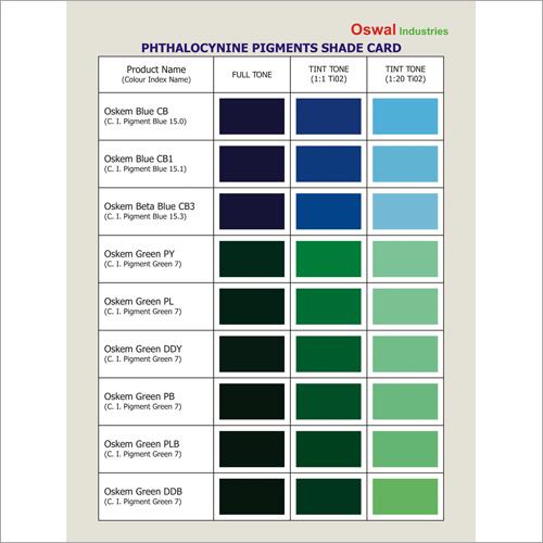 Phthalocynine Pigments