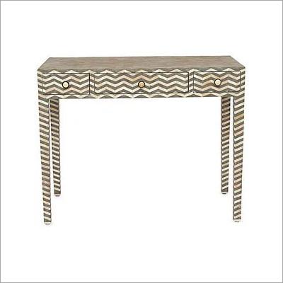 Handmade Bone Inlay Designer Console Table