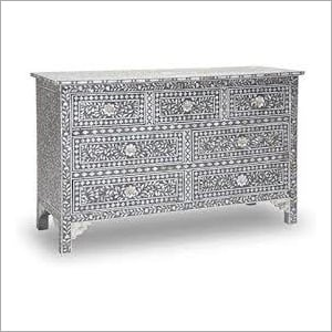 Bone Inlay Chest Of Drawer Cabinet, Commode, Side Board