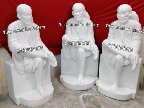 Pure White Marble Sai Baba Statue
