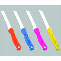 Straight Blade Plastic Handle Knife