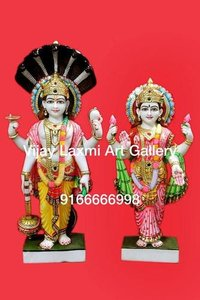 Designer Marble Vishnu Laxmi Statue
