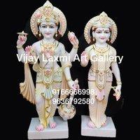 Vishnu Laxmi Marble Moorti