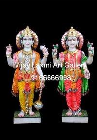 Vishnu Laxmi Marble Moorti Statue