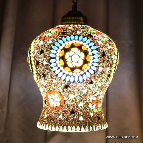 Multicolor Mosaic Glass Decor Hanging