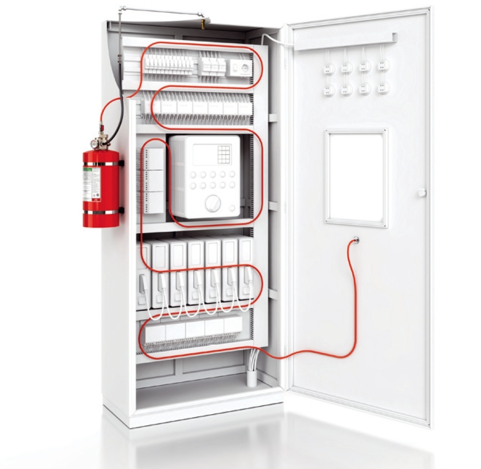 NOVEC 1230 FIRE GAS SUPPRESSION SYSTEM FOR ELECTRICAL PANEL