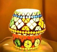 Multicolor Mini Glass Mosaic Table Lamp