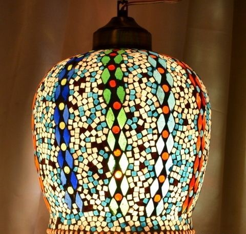 Multicolor Beautiful Mosaic Finish Glass Wall Hanging