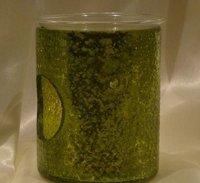 GREEN GLASS AROMA OIL BURNERS