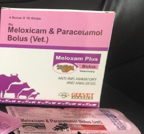 Meloxicam & Paracetamol Bolus VET
