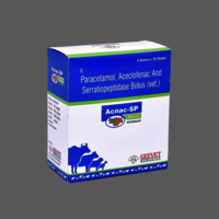 Paracetamol, Aceclofenac And Serratiopeptidase Bolus Vet