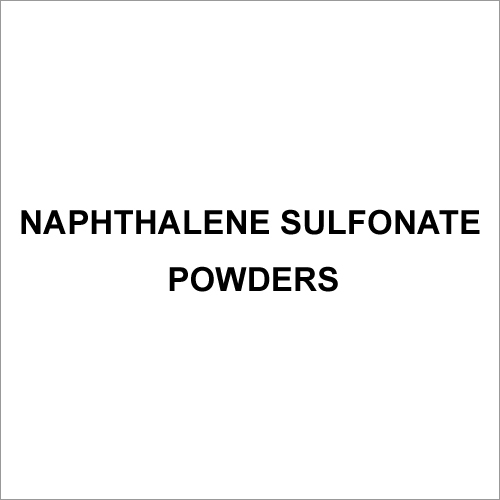 Naphthalene Sulfonate Powders