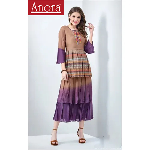 Anora Fashions Indo Western Kurti