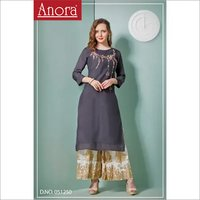 Anora Fashions Embroidered Kurti