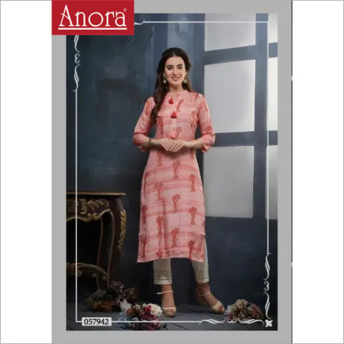 Anora Fashions Printed Kurti