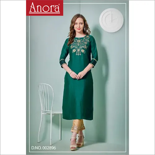 Ladies Party Wear  Embroidered Kurti