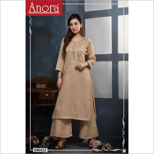 Anora Fashions Cotton Kurti With Palazzo