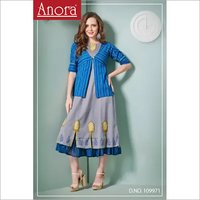 Pure Cotton Embroidered A Line Kurti