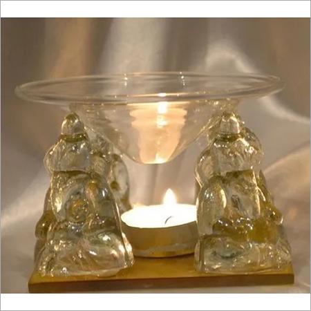 Transparent Glass Handicrafts Ganesha ,Glass Miniatures Glass Display
