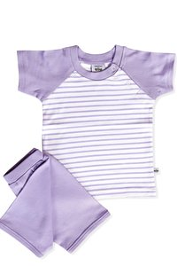 Sholder Button T Shirt With Short Set