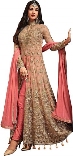 Net Embroidery Anarkali Suit