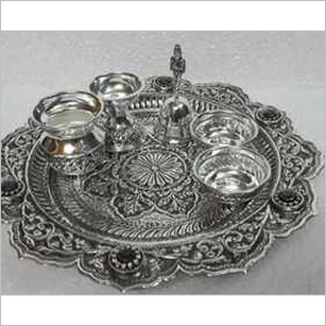 925 Silver Article  Pooja Thali Set