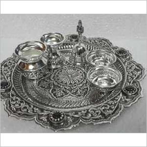 925 Silver Article  Pooja Thali Set