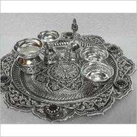 Silver Pooja Thali Set