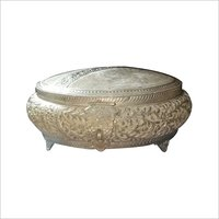 925 Round Silver Article Jewellery Box