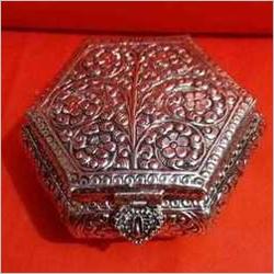 Silver Pleated Jewelry Box