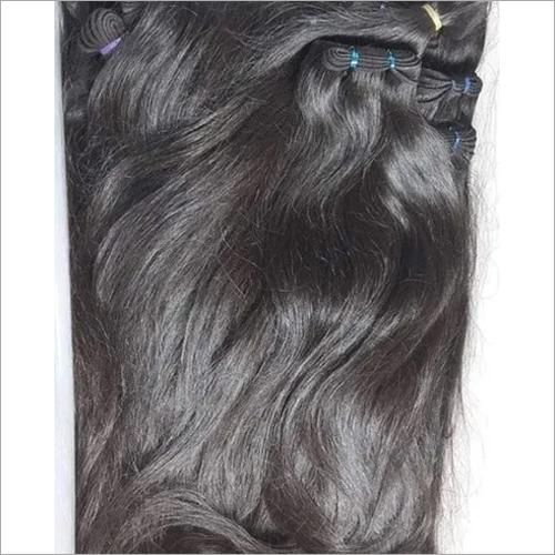 Raw machine weft hair