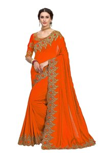 Rose Butti Embroidery work Saree