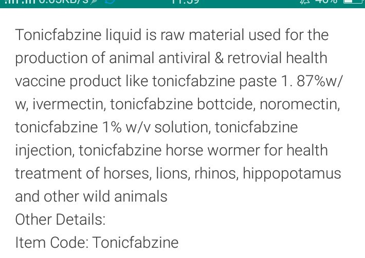 Tonicfabzine Oil Liquid