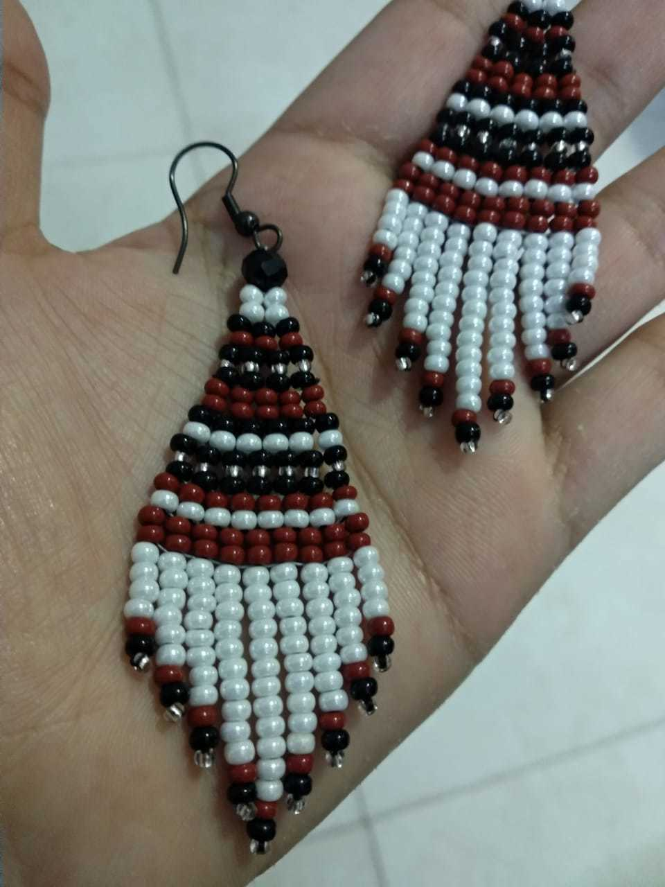 Fringes Beaded Earrings