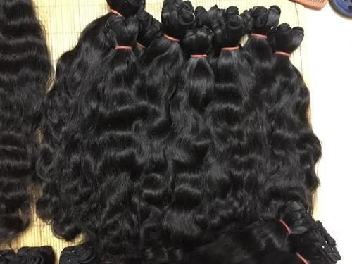 Indian Wavy Machine Weft Hair