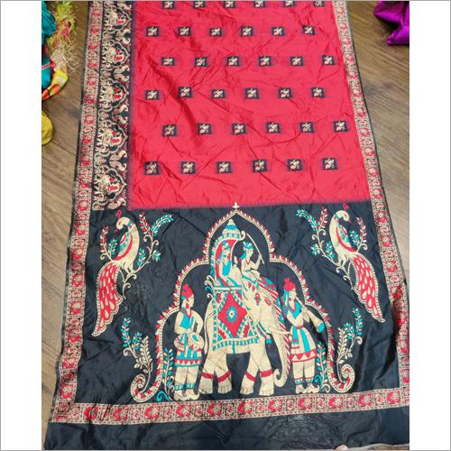 Ladies Designer Print Jacquard Sarees