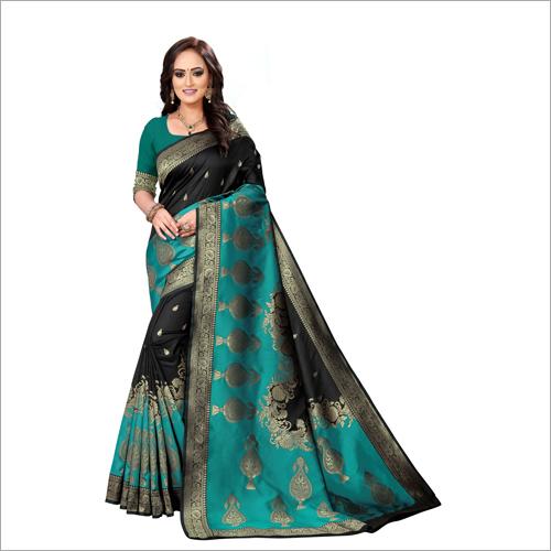 Ladies Party Wear Jacquard Sarees