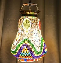 Multicolor Antique Mosaic Wall Hanging Lamp