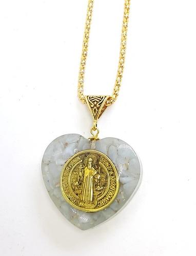 Angelite Crystal Stone Energy Healing Orgonite Pendant