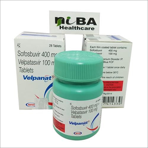 Sofobuvir 400 mg Velpatasvir 100 mg Tablets
