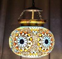 Multicolor Mosaic Glass Wall Hanging Handmade