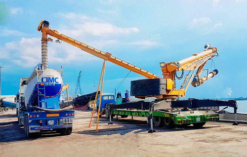 Cement Ship Unloader Use Cylinder Hydraulic
