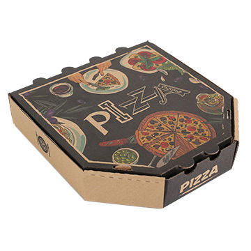 Printed Khakhi Pizza Box