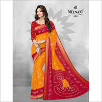 Fancy Rajwadi Bandhani Saree