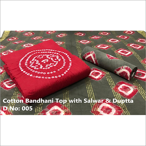 Fancy Cotton Bandhani Suit Fabric