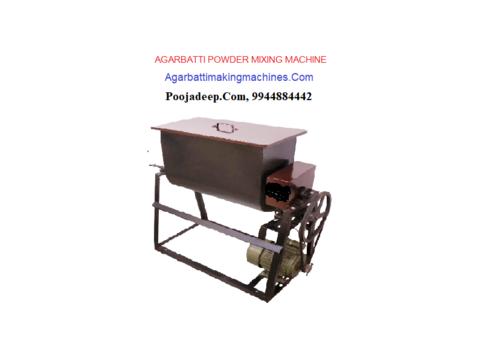Incense powder mixing machines
