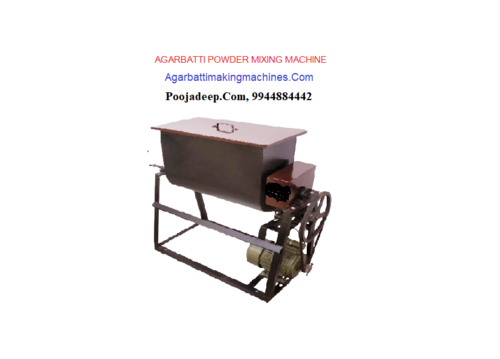 Incense powder mixing machines