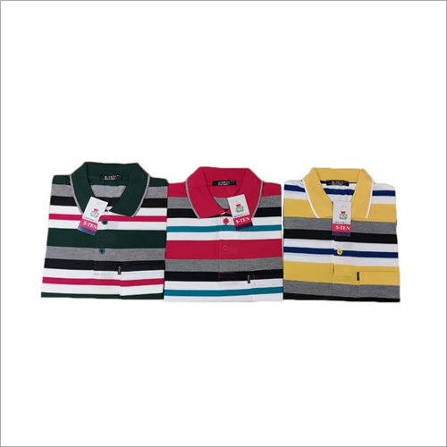 Mens Daily Wear Striped T-Shirt