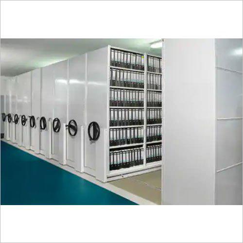 White Mobile Storage Compactor