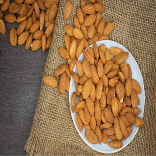 Brown Healthy Almond nuts